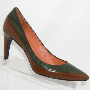 Via Spiga two tone pointed toe leather heels 8M